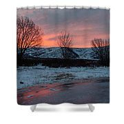Winter Sunrise Shower Curtain by Chad Dutson
