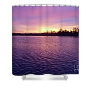 Winter Sunrise Shower Curtain by John Telfer