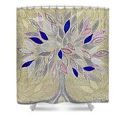 Winter Tree Shower Curtain by Barbara Moignard