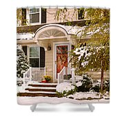 Winter - Westfield Nj - It's Too Early For Winter Shower Curtain by Mike Savad