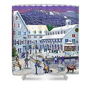 Wintertime At Waterville Valley New Hampshire Shower Curtain by Nancy Griswold