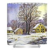 Wintertime In The Country Shower Curtain by Carol Wisniewski