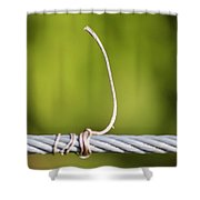 Wire On Wire Shower Curtain by Cynthia Guinn