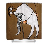Wisdom Tooth Shower Curtain by Anthony Falbo