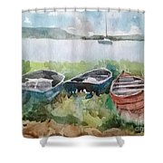 Wishing and Hoping Shower Curtain by Elizabeth Carr
