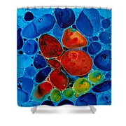 Wishing Stones Shower Curtain by Sharon Cummings