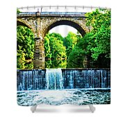 Wissahickon Falls Shower Curtain by Bill Cannon