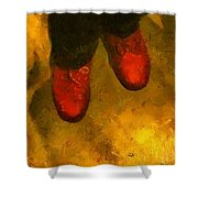 Witch Walking Shower Curtain by RC DeWinter