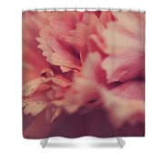 With A Fluttering Heart Shower Curtain by Laurie Search