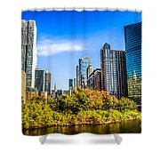 Wolf Point In Chicago Shower Curtain by Paul Velgos