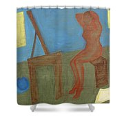 Woman After Bathing Shower Curtain by Patrick J Murphy