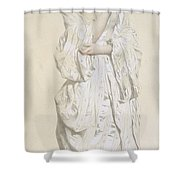 Woman In A Dressing Gown Shower Curtain by French School