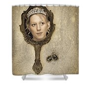 Woman In Mirror Shower Curtain by Amanda And Christopher Elwell