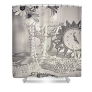 Womans Dressing Table Shower Curtain by Amanda And Christopher Elwell