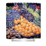 Wonderful in Any Language Shower Curtain by Joan Carroll