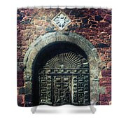 Wooden Gate Shower Curtain by Joana Kruse