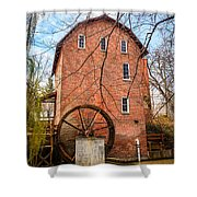 Wood's Grist Mill in Northwest Indiana Shower Curtain by Paul Velgos