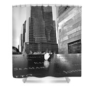 World Trade Center Memorial Shower Curtain by Dan Sproul