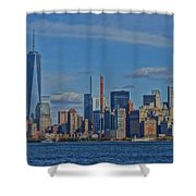 World Trade Center Painting Shower Curtain by Dan Sproul