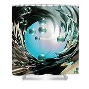 Worlds Apart Shower Curtain by Cheryl Young