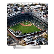 Wrigley Field Chicago Sports 02 Shower Curtain by Thomas Woolworth