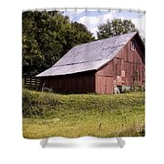 Wv Barn Shower Curtain by Gena Weiser