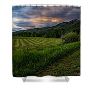Wyoming Pastures Shower Curtain by Chad Dutson