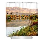 Yakima River Autumn Shower Curtain by Carol Groenen