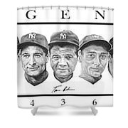 Yankees Shower Curtain by Tamir Barkan