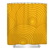 Yellow Abstract Shower Curtain by Frank Tschakert