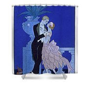 Yes Shower Curtain by Georges Barbier