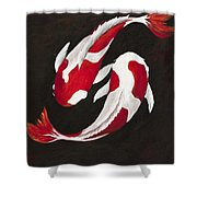 Yin And Yang Shower Curtain by Darice Machel McGuire