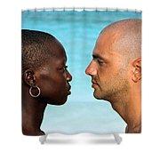 Yin Yang Shower Curtain by Skip Hunt