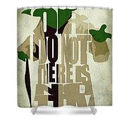 Yoda - Star Wars Shower Curtain by Ayse Deniz