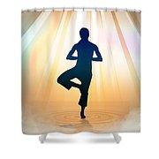 Yoga Balance Shower Curtain by Bedros Awak