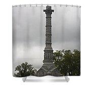 Yorktown Monument Shower Curtain by Teresa Mucha