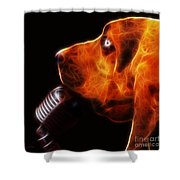You Ain't Nothing But A Hound Dog - Dark - Electric Shower Curtain by Wingsdomain Art and Photography