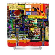You Saw No Picture 5 Shower Curtain by David Baruch Wolk