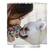 Yummmm Shower Curtain by Lisa Phillips