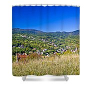 Zagreb Hillside Green Zone Nature Shower Curtain by Brch Photography