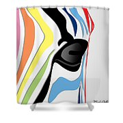 Zebra 1 Shower Curtain by Mark Ashkenazi