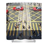 Zebra Crossing - Hong Kong Shower Curtain by Matteo Colombo