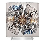 Zebra Flower Shower Curtain by Anastasiya Malakhova