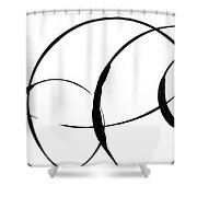 Zen Circles 3 Shower Curtain by Hakon Soreide