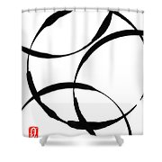 Zen Circles Shower Curtain by Hakon Soreide