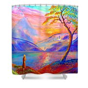 Zen Shower Curtain by Jane Small