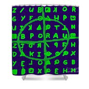 Zodiac Killer Code And Sign 20130213p128 Shower Curtain by Wingsdomain Art and Photography