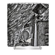 Boat Propeller Shower Curtain by Stelios Kleanthous