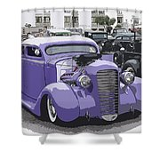 Hot Rod Purple Shower Curtain by Steve McKinzie