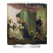Malvolio Before Olivia - From 'twelfth Night'  Shower Curtain by Johann Heinrich Ramberg